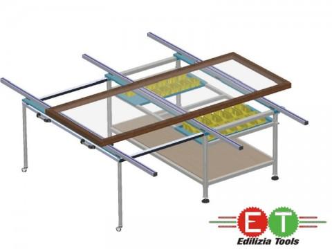 WB 4000 Banc de lucru cu extensie carucior pentru pvc si aluminiu utilaje yilmaz