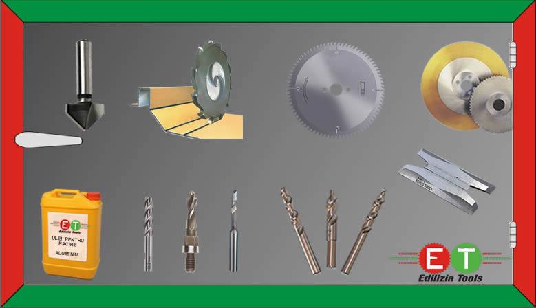 consumabile atelier tamplarie PVC & Aluminiu, alucobond